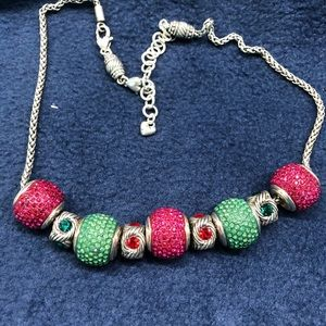 Brighton charm necklace with Christmas colors